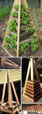 vertical pyramid garden planter diy