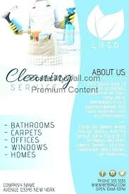 House Cleaning Services Flyers Window Cleaning Leaflet Template Chanceinc Co