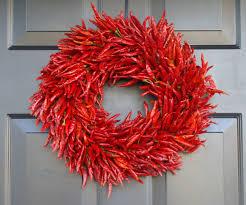 Red Kitchen Wall Decor Organic Red Chili Pepper Wreath Kitchen Centerpiece Wall