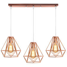 Metall Hängeleuchte Lampenschirme 3 Köpfe Leuchte