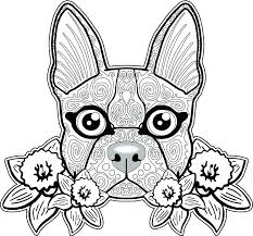 Coloring Pages Of Dogs With Flowers Coloring Pages Dogs And Puppies