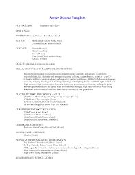 Sample Soccer Resume Soccer Coach Resume Resume Badak 1