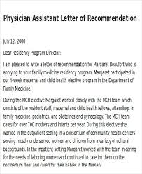 Physician Assistant Letter Of Recommendation Articleezinedirectory