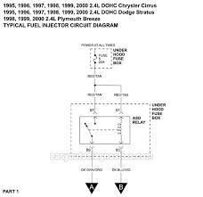 fuel injector circuit wiring diagram 1995 2000 2 4l cirrus stratus fuel injector circuit wiring diagram 1995 2000 2 4l cirrus stratus breeze