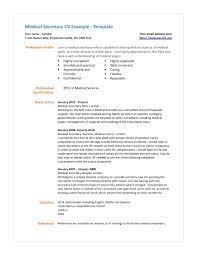Secretary Resume Sample Resume Sample For Office Secretary New Cover Letter Medical 65