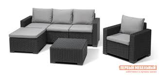 <b>комплект плетеной мебели keter</b> columbia set 5 pcs 17202279 кор ...