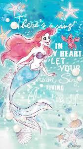 Disney X Line 6月壁紙 アリエル 6月はミッキーフレンズの夏らしい