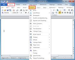 Office Word Format Where Is The Format Menu In Microsoft Word 2007 2010 2013