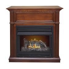 pleasant hearth 42 in dual burner vent free cherry corner liquid propane or