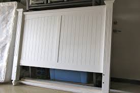 white painted headboard with regard to ideas for make a wood home collection plan 4