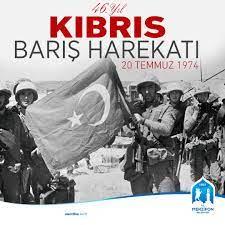 "Ο χρήστης Alp Kargı στο Twitter: ""Kıbrıs Barış Harekatı'nın 46. yıl  dönümünde yitirdiğimiz Şehitlerimize ve Gazilerimize Allah'tan rahmet,  yaşayan gazilerimiz ve şu an hayatta olan, bu destanın yazılmasında emeği  geçen tüm kahramanlara"
