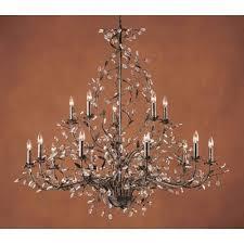 elk lighting circeo fifteen light chandelier