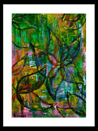 794x1057 abstract flower art small oil pastel drawing wall art