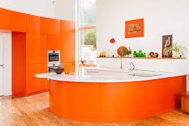 Orange And White Kitchen Neon Kitchen Interiors Inmyinterior