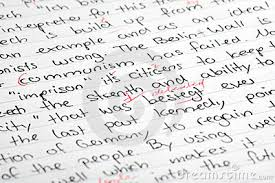 homework correction math essay corrected essay stock image   image