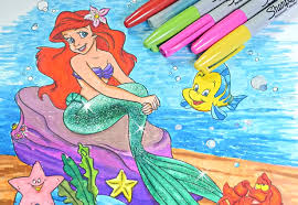 Small Picture Princess Ariel coloring book Disney princess coloring pages for