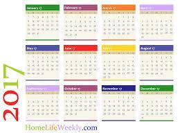 printable year calendar 2013 home life weekly printable calendar 2017 home life weekly