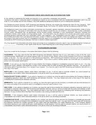 Background Check Authorization Form Stunning Background Check Disclosure And Authorization Form Free Download