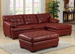 Homelegance  All Leather Sectional Sofa Set  Red URED - All leather sofa sets