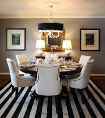 round dining table with fabric chairs room ideas