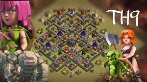 Clash Of Clans Layout Guerra Cv9 Th9 Atualizado 2017 Com Torre