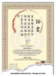 martial arts certificate template chinese chinese martial arts certificate templates