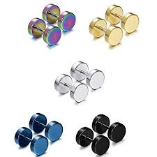 Rurah <b>5 Pairs Fashion</b> Stainless Steel Cartilage Stud <b>Earrings</b> for ...