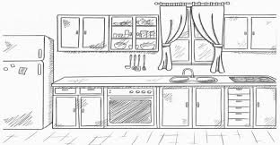 clean kitchen clipart black and white.  White Clean Kitchen Clipart Black And White Of Clip Art 1141 3197144498 Inside  Intended N