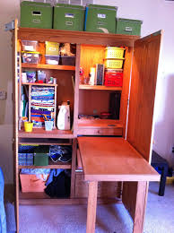 contemporary computer armoire desk computer armoire. an old computer armoire turned into a craft storage complete with its own desk space contemporary