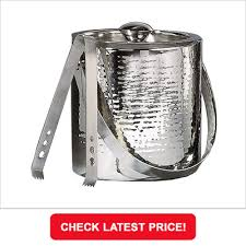 stainless steel ice bucket. Elegance Hammered Stainless Steel Ice Bucket