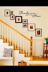 pictures up staircase wall decorating