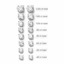 Earring Carat Size Chart 50 Earrings Size 10mm Earrings Actual Size Pictures To Pin