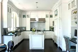 kitchens with white cabinets and dark floors. Antique White Kitchen Cabinets With Dark Floors  Shaker . Kitchens And O