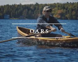 handmade wooden oars