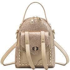 LXTAZG Новый Модный женский рюкзак с золотыми блестками ...