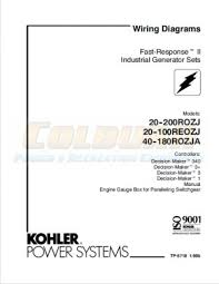 industrial engines transfer switches wiring diagram manuals kohler product literature tp 5718