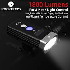 ROCKBROS 1800 Lumen <b>Bike</b> Light 3 Leds <b>USB Rechargeable</b> ...