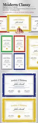 diploma certificate templates printable psd word  modern classy diploma award certificate templates