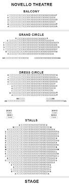 Novello Theatre Seating Chart Novello Theatre Seating Plan London West End Uk