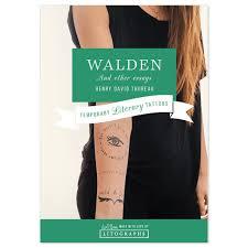 walden book tattoo walden