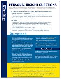 personal insight questions by uc san diego admissions page issuu