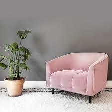 large dusty pink velvet armchair pink