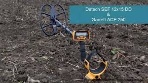 Garrett ACE 250 с <b>катушкой Detech SEF</b> 12x15 DD - YouTube