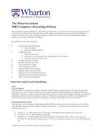 Mccombs Resume Format Wharton Mba Sample Resume Free Resumes Tips 100