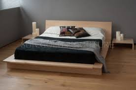 China Maple Platform Bed Low Profile Wooden Bed (SZ-BF201) - China ...