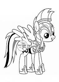 Small Picture Rainbow Dash My little pony coloring page for kids for girls