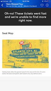 Warped Tour Seating Chart Pretty Sure Atlantic City Just Sold Out Warpedtour