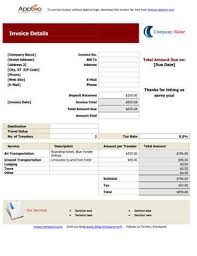 Travel Invoices Beauteous Sales Invoice Templates [48 Examples In Word And Excel]