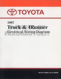 1987 toyota truck 4runner wiring diagram manual factory reprint