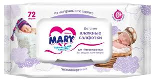 <b>Влажные салфетки</b> Mary для новорожденных — купить по ...